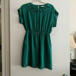 Broadway & Broome for Madewell silk green dress
